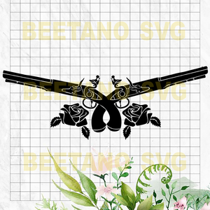 Guns Rose High Quality Svg Cut Files Best For Unique Craft