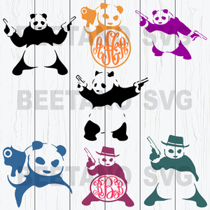 Panda With Guns Svg Bundle, Panda Guns Files, Panda Guns Bear Svg Files, Panda Guns Bear Bundle Clipart, Panda Guns Bear Cutting Files For Cricut, SVG, DXF, EPS, PNG Instant Download