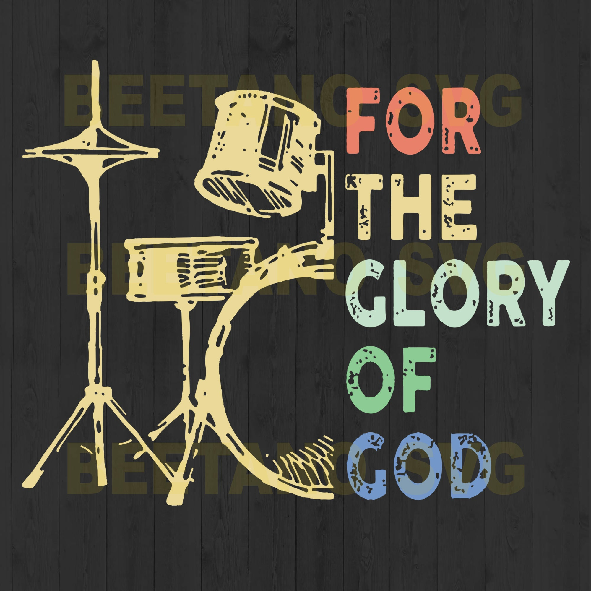 For The Glory Of God Musical Instrument Svg Files, Musical Instrument