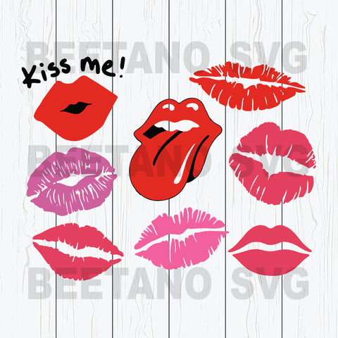 Kiss Me Lips Svg, Lips Bundle Svg Files, Lips Cricut Files, Red Lips Svg Bundle, Lips Svg Bundle