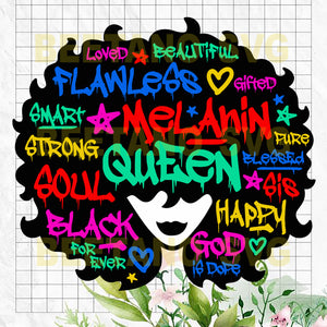 Melanin Queen Cutting Files For Cricut, SVG, DXF, EPS, PNG Instant Download