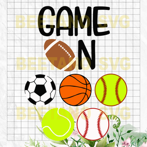 Sports baseball football Cutting Files For Cricut, SVG, DXF, EPS, PNG Instant Download