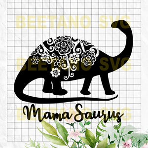 Mandala Mamaraurus Cutting Files For Cricut, SVG, DXF, EPS, PNG Instant Download