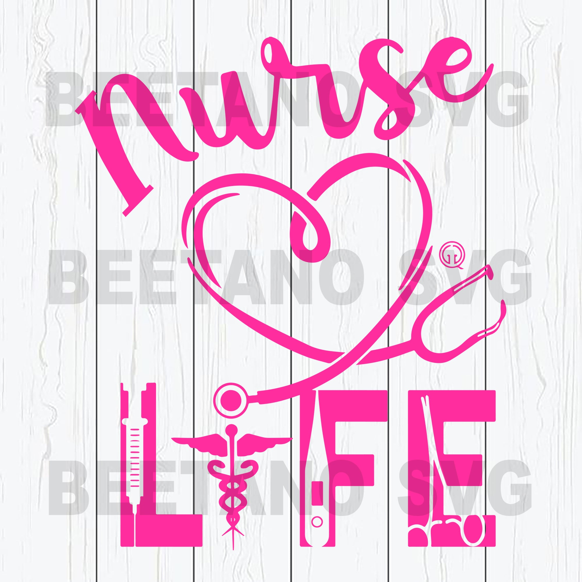 Nurse Life Cutting Files For Cricut, SVG, DXF, EPS, PNG Instant Download