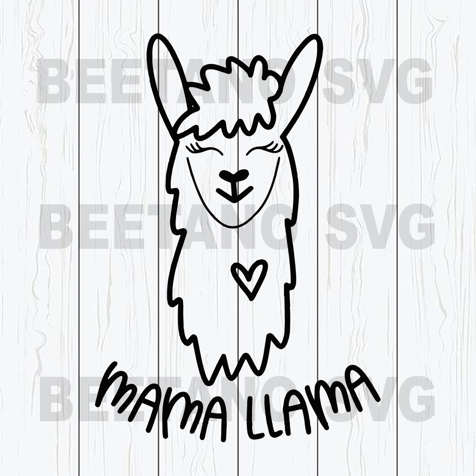 Mama Llama Svg, Mother's Day Svg Files, LLama Svg