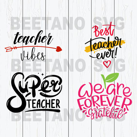 Teacher Vibes Super Teacher Svg Bundle Files, Teacher Svg Bundle Files, Teacher Svg Files For Instant Download