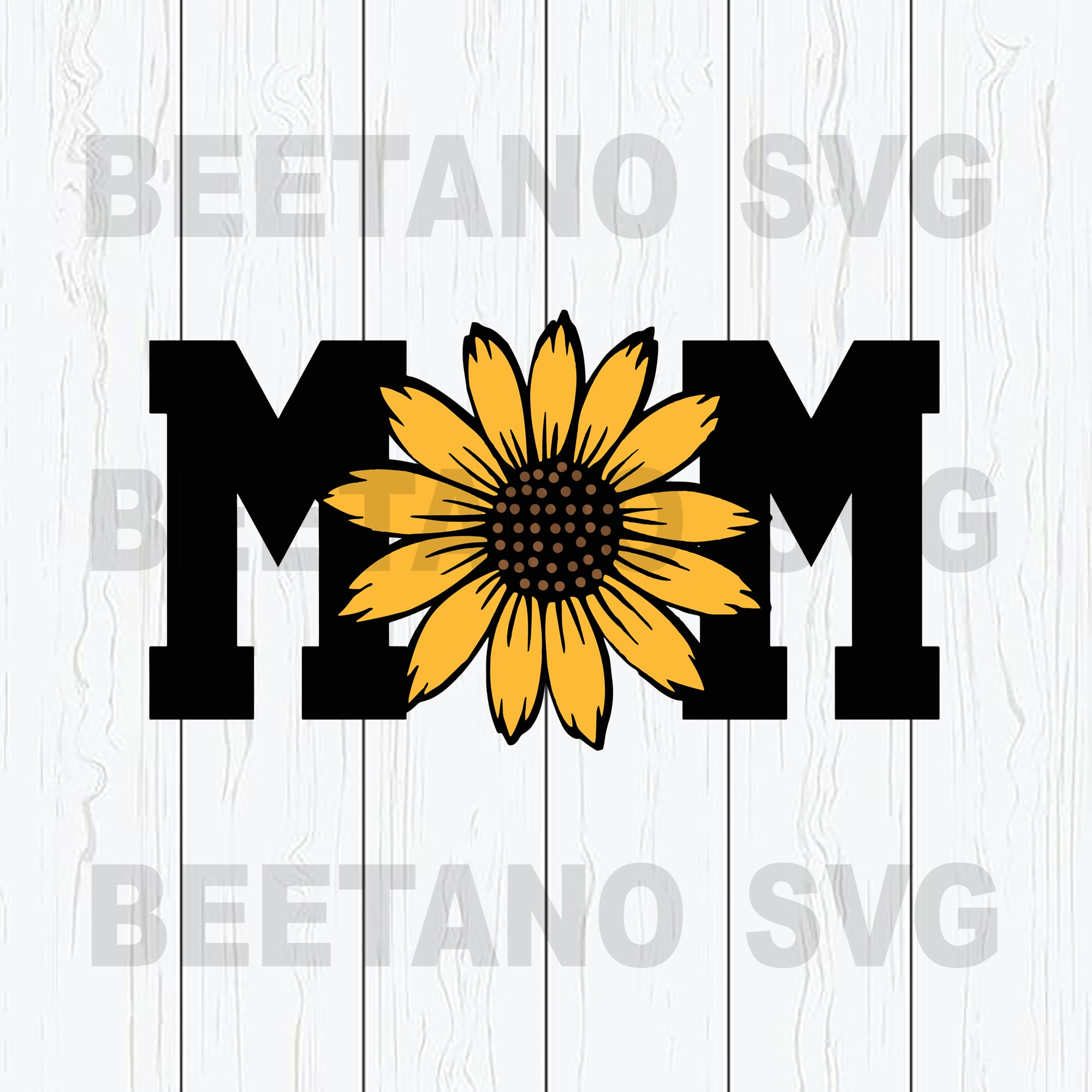 Mom Svg, Sunflower Mom Svg Files, Happy Mother's Day Svg, Sunflower Svg, Mom Cricut Files