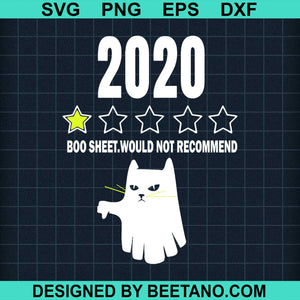 2020 Boo Sheet 1 Star Funny Cat Ghost