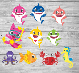 Baby Shark Family SVG,