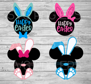 Easter Mickey Minnie Mouse