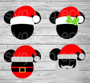 Mickey Santa Hat svg, Mickey Santa Hat svg, Christmas Santa svg, Mickey Mouse Christmas, Christmas svg, Mickey Svg, Mickey head svg files