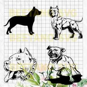 Pibull Dog Svg Bundle