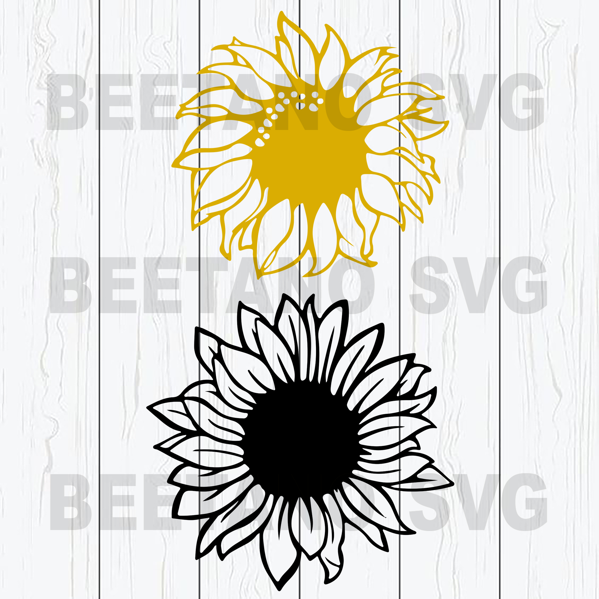 Sunflowers Svg Bundle, Sunflower Vector, Sunflowers Clipart, Sunflowers Bundle Cutting Files For Cricut, SVG, DXF, EPS, PNG Instant Download
