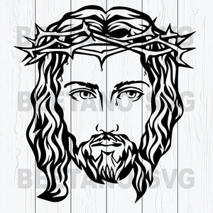 Jesus Face Svg, Jesus Svg Files, Jesus Cutting Files, Jesus Head Cutting Files For Cricut, SVG, DXF, EPS, PNG Instant Download