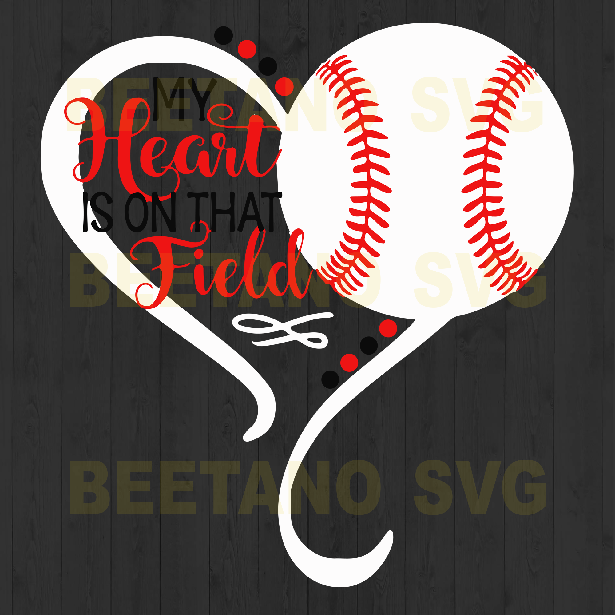 My Heart Is On That Field Softball Svg, Softball Vector, Softball Clipart, Softball Files, Softball Cutting Files For Cricut, SVG, DXF, EPS, PNG Instant Download