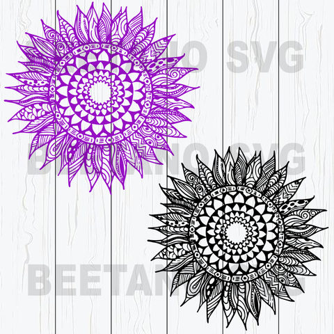 Mandala Flowers Svg Bundle, Mandala Sunflowers Files, Mandala Sunflowers Cutting Files For Cricut, SVG, DXF, EPS, PNG Instant Download