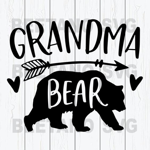 Grandma Bear Svg Files