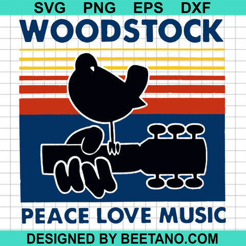 Woodstock Peace Love Music