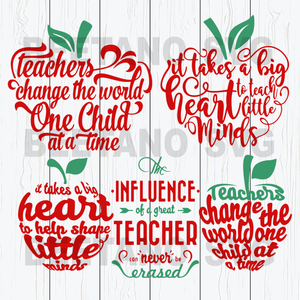 Teacher quotes bundle Cutting Files For Cricut, SVG, DXF, EPS, PNG Instant Download