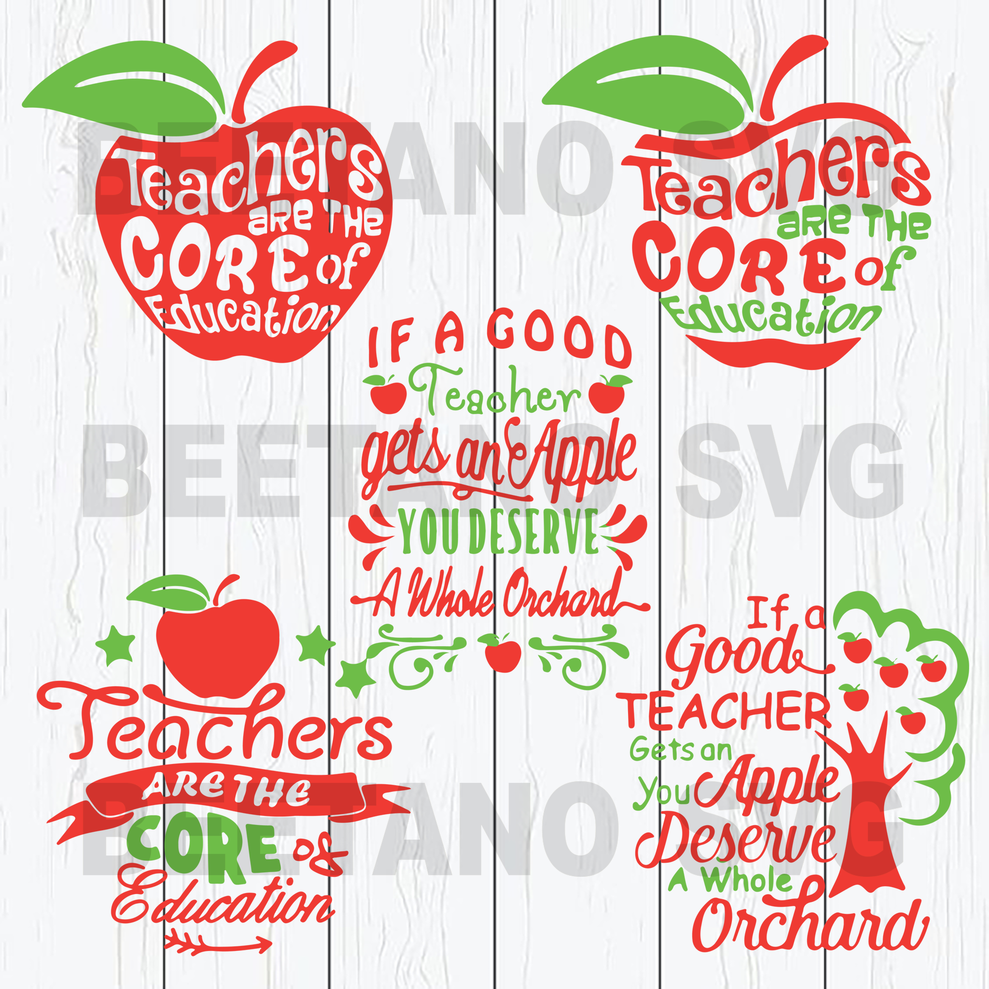 Teacher quotes bundle apple Cutting Files For Cricut, SVG, DXF, EPS, PNG Instant Download
