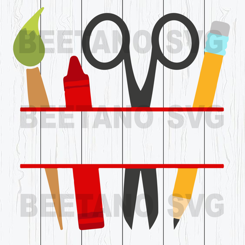Pencil school things Svg Files Cutting Files For Cricut, SVG, DXF, EPS, PNG Instant Download