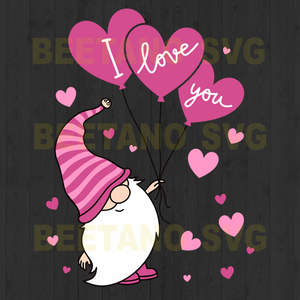 Gnomes i love you valentine day Cutting Files