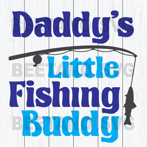 Daddy's little fishing buddy