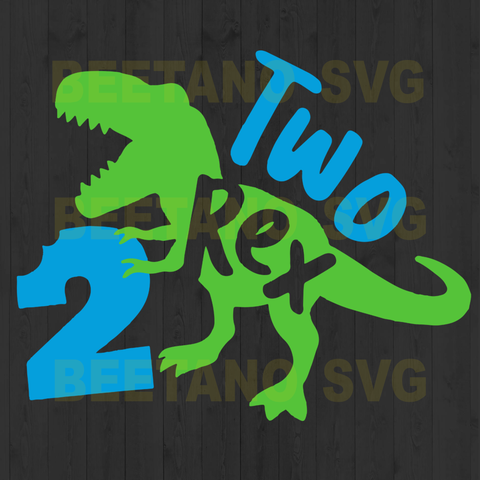 Two t rex baby t shirt Cutting Files For Cricut, SVG, DXF, EPS, PNG Instant Download