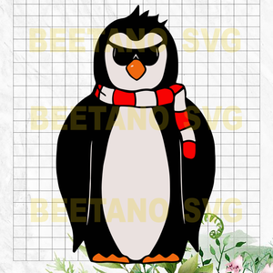 Penguin boss Files For Cricut, SVG, DXF, EPS, PNG Instant Download