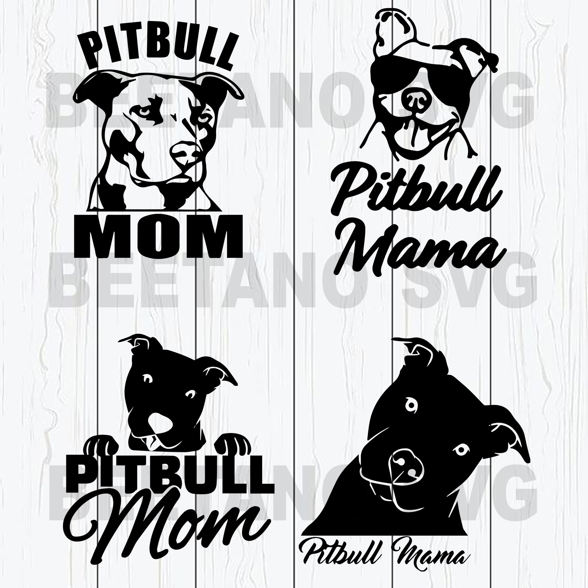 Pitbull Mom Svg Files, Pitbull Svg, Mother Svg, Dog Svg, Pitbull Mom Svg For Instant Download