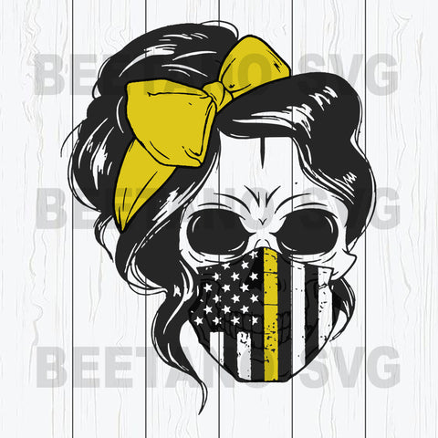 Skull Mom Wear Flag Facemask Svg Files For Instant Download