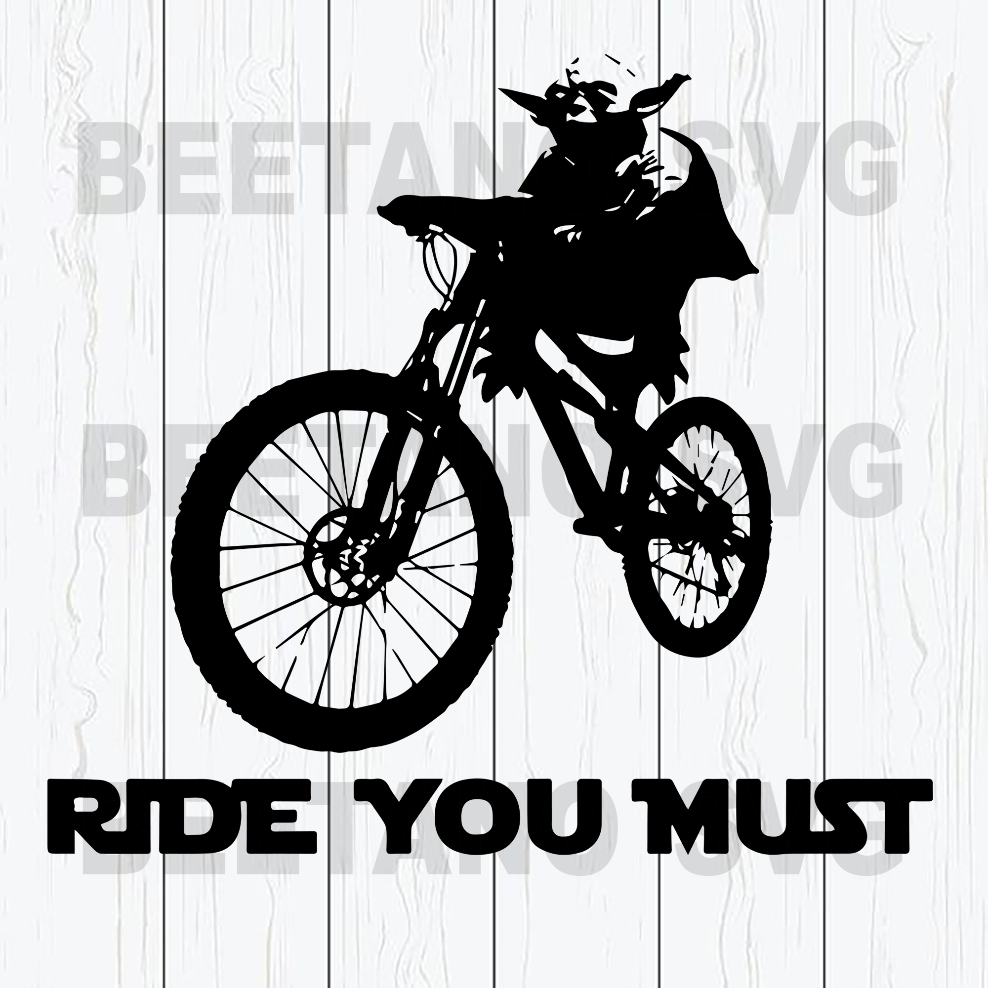 Star wars funny bicycle Cutting Files For Cricut, SVG, DXF, EPS, PNG Instant Download