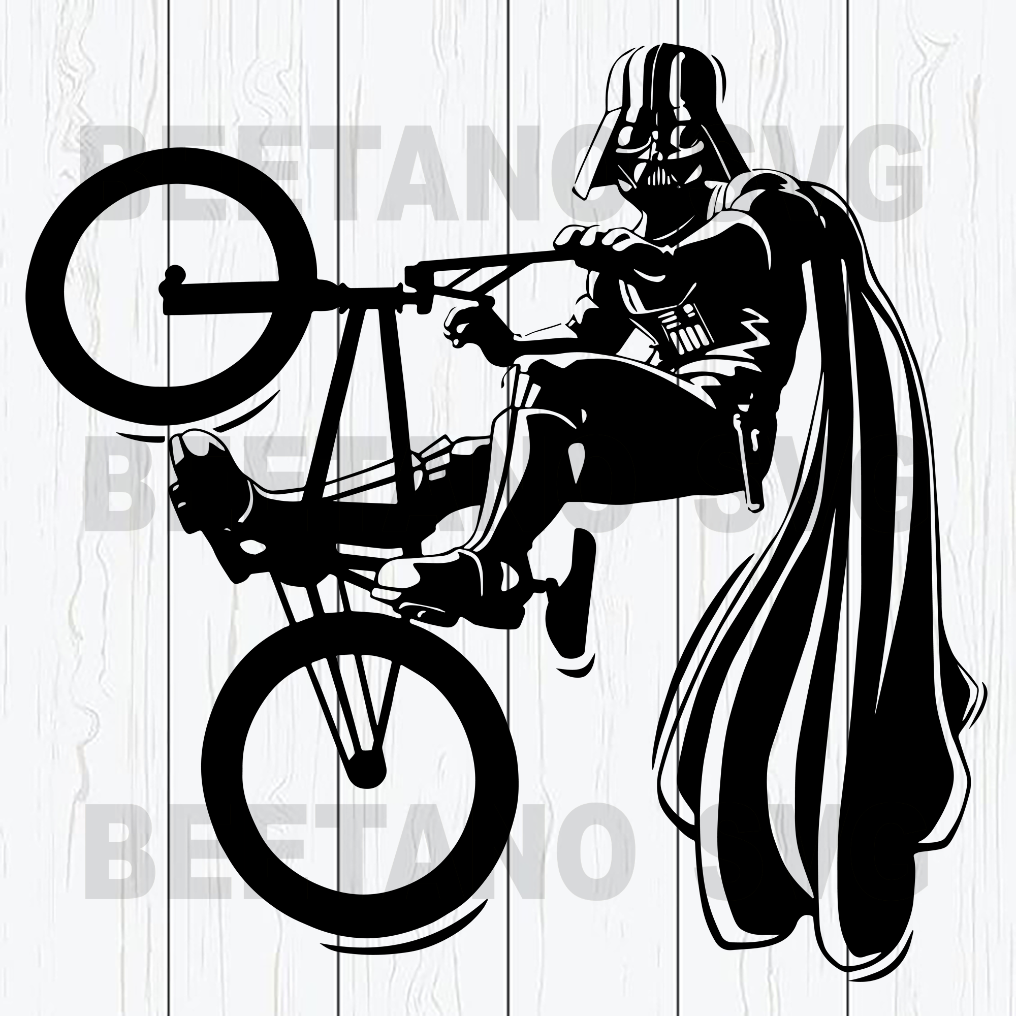 Star wars darth vader bicycle funny Cutting Files For Cricut, SVG, DXF, EPS, PNG Instant Download