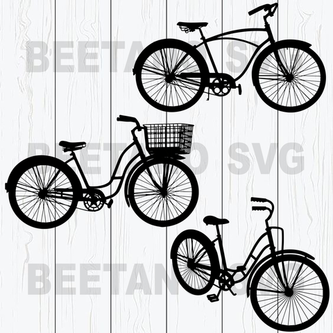 Bicycle bundle silhouette