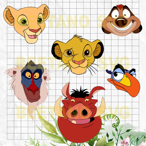 Lion King character face