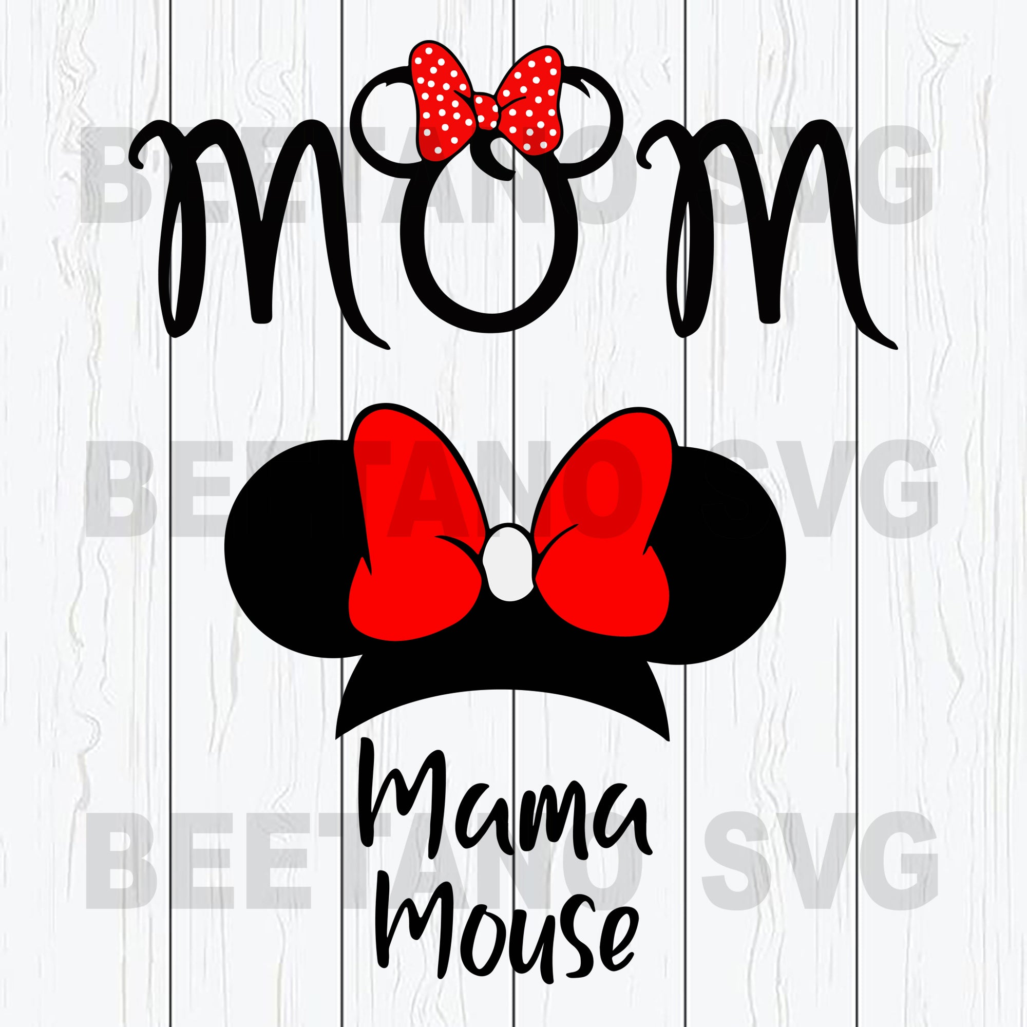 Mom Mama Mouse Svg, Mama Mouse Svg Files, Disney Mickey Mouse Svg Files