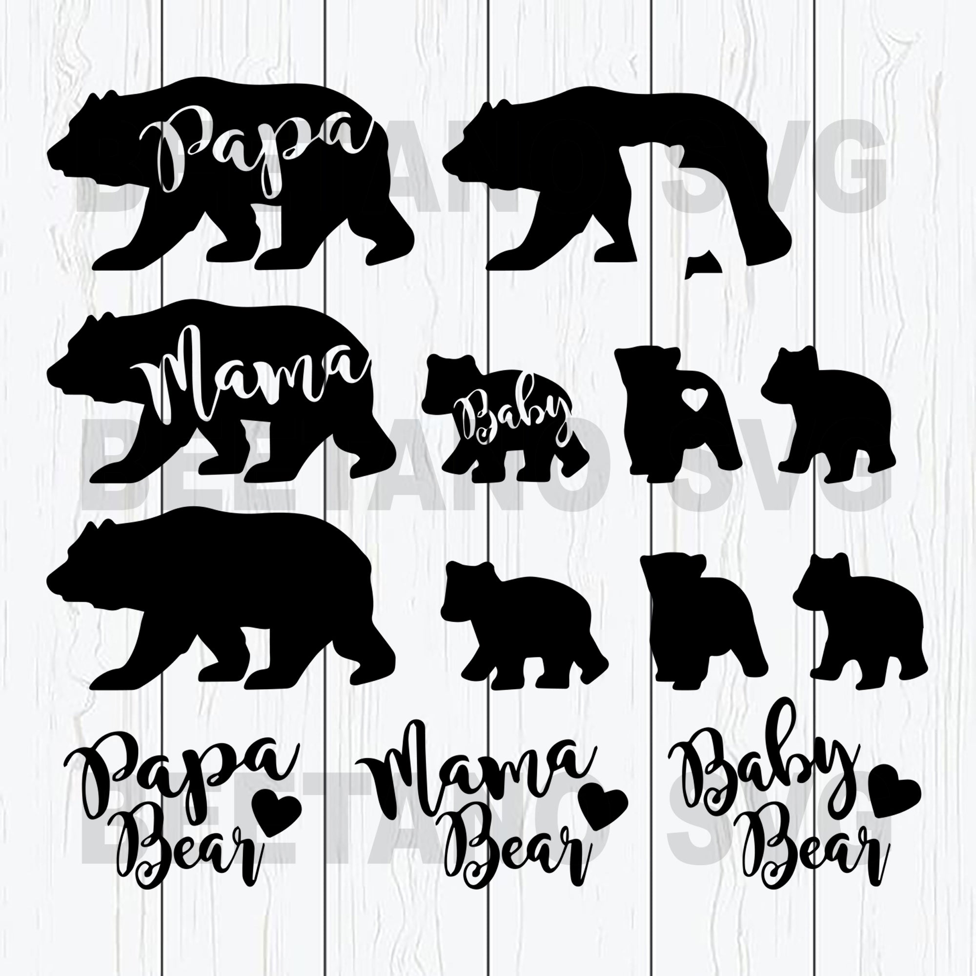 Family Bear Svg Files For Download