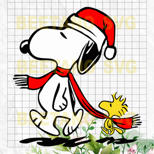 Snoopy Santa Hat Svg, Christmas Snoopy Svg Files, Christmas Svg, Snoopy Svg, Snoopy Cutting Files For Cricut, SVG, DXF, EPS, PNG Instant Download