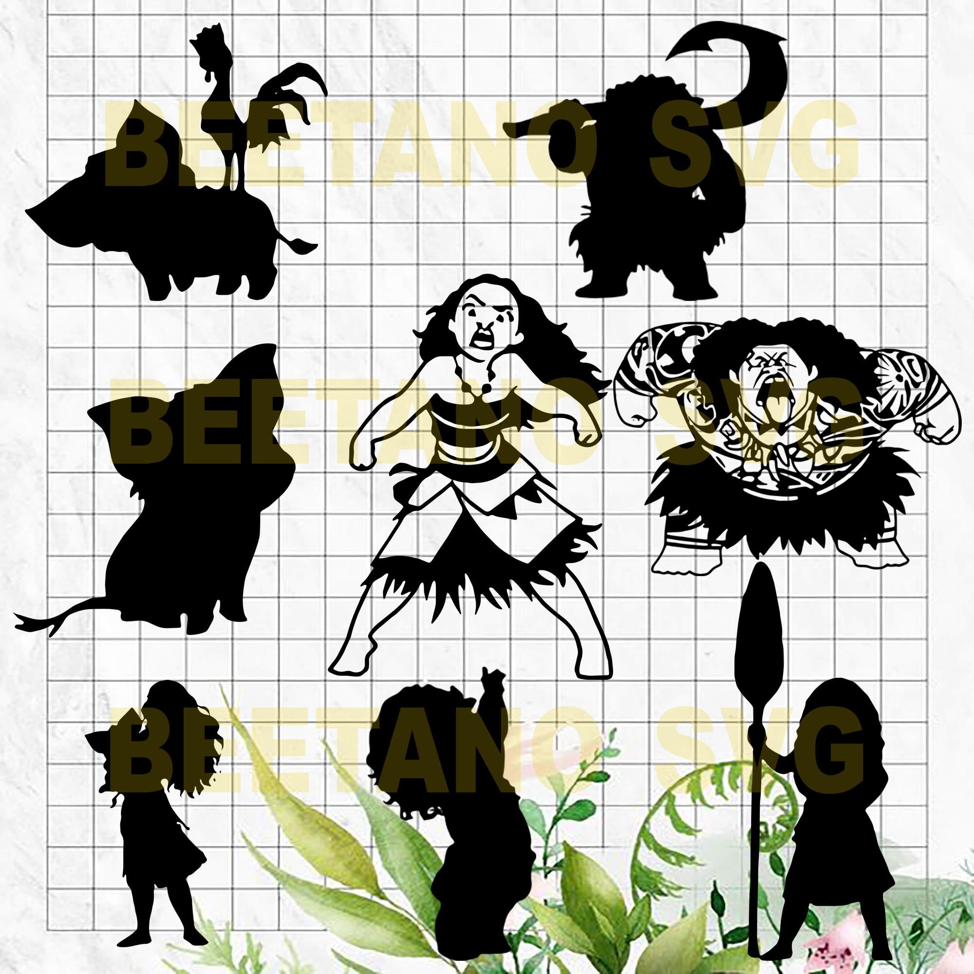 Moana Svg Bundle Moana Character Svg Bundle Files For Cricut Svg Dx Beetanosvg Scalable Vector Graphics