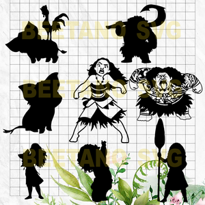 Moana Svg Bundle, Moana Character Svg Bundle, Moana Svg, Disney Svg, Moana Cutting Files For Cricut, SVG, DXF, EPS, PNG Instant Download