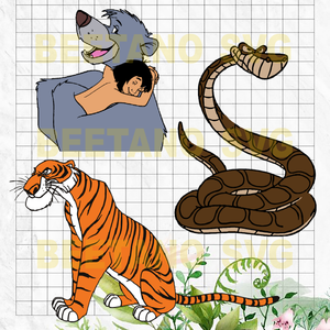 Jungle book Cutting Files For Cricut, SVG, DXF, EPS, PNG Instant Download