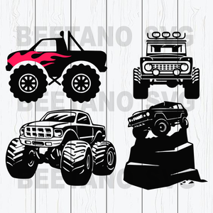 Jeep car silhouette Cutting Files For Cricut, SVG, DXF, EPS, PNG Instant Download
