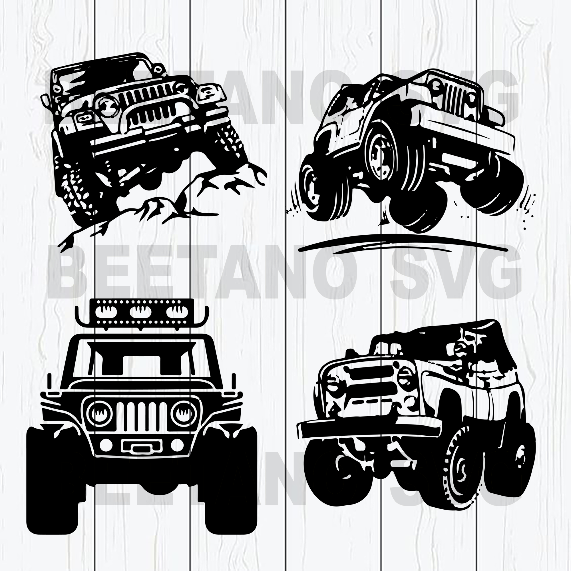 Jeep cars bundle Cutting Files For Cricut, SVG, DXF, EPS, PNG Instant Download