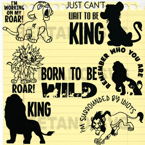 Lion King character cutting files
