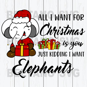 Christmas Elephant Svg
