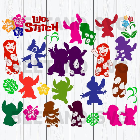 Lilo And Stitch Character Svg Bundle