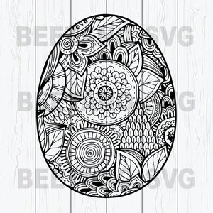 Mandala Easter Egg Svg, Mandala Egg Svg, Easter Egg Svg Files, Happy Easter Svg Files