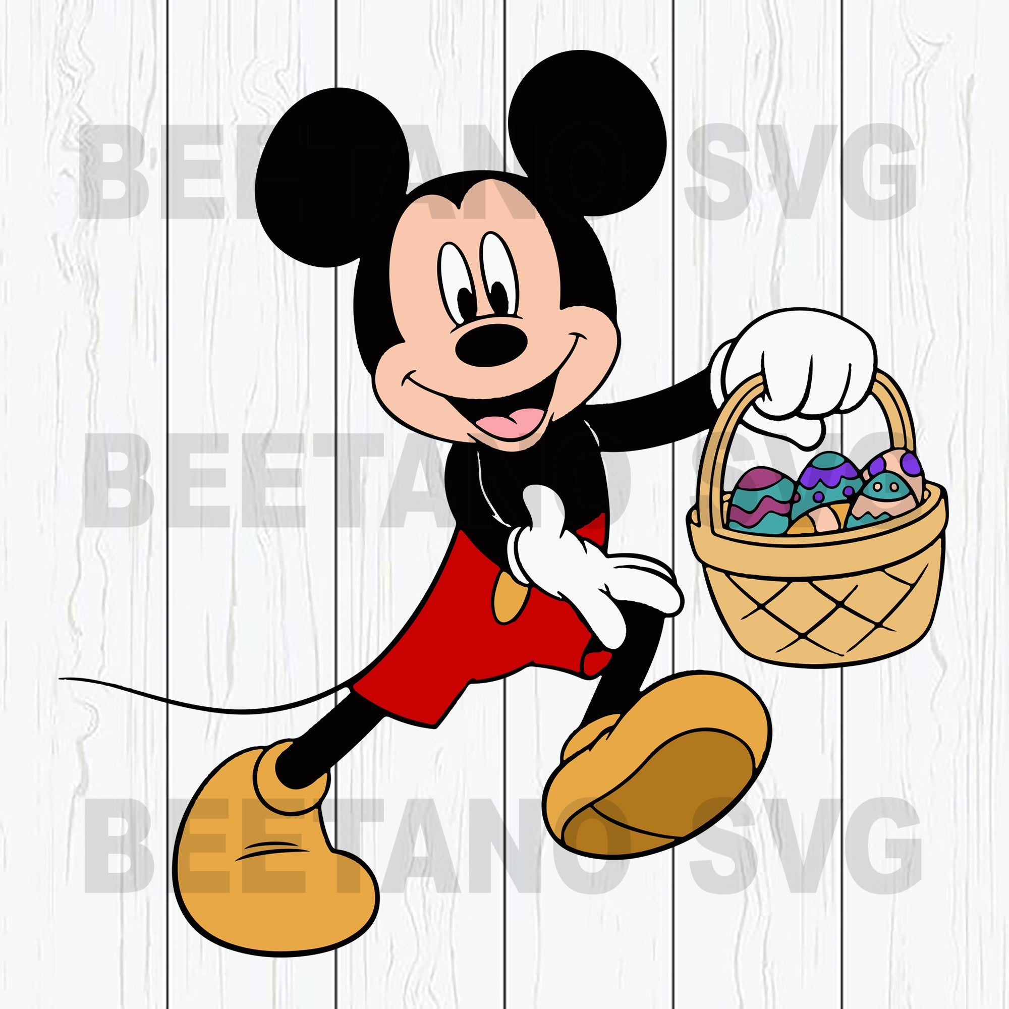 Mickey Mouse With Easter Egg Svg Files, Mickey Svg, Disney Easter Svg Files