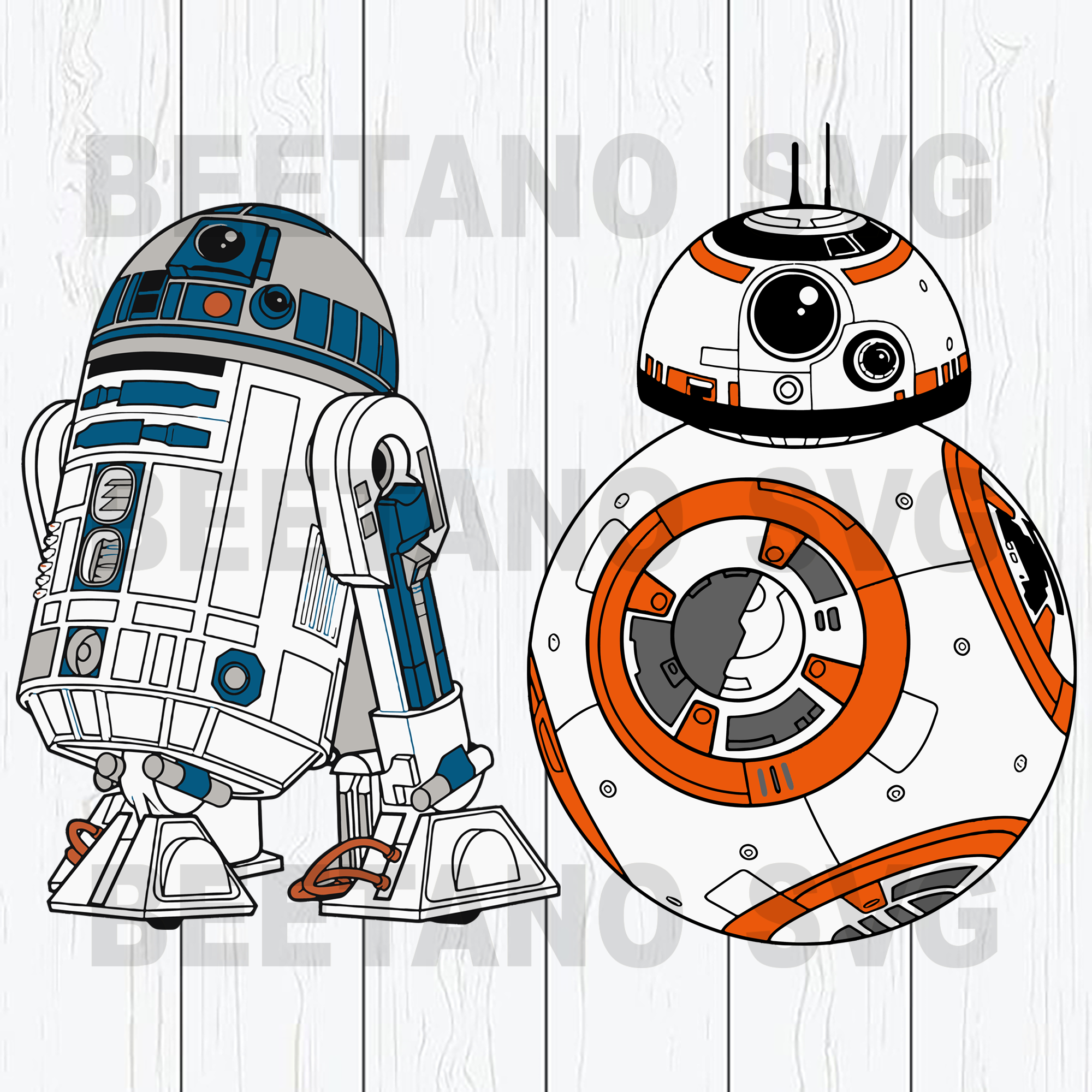 Star wars robot robo r2d2 Cutting Files For Cricut, SVG, DXF, EPS, PNG Instant Download