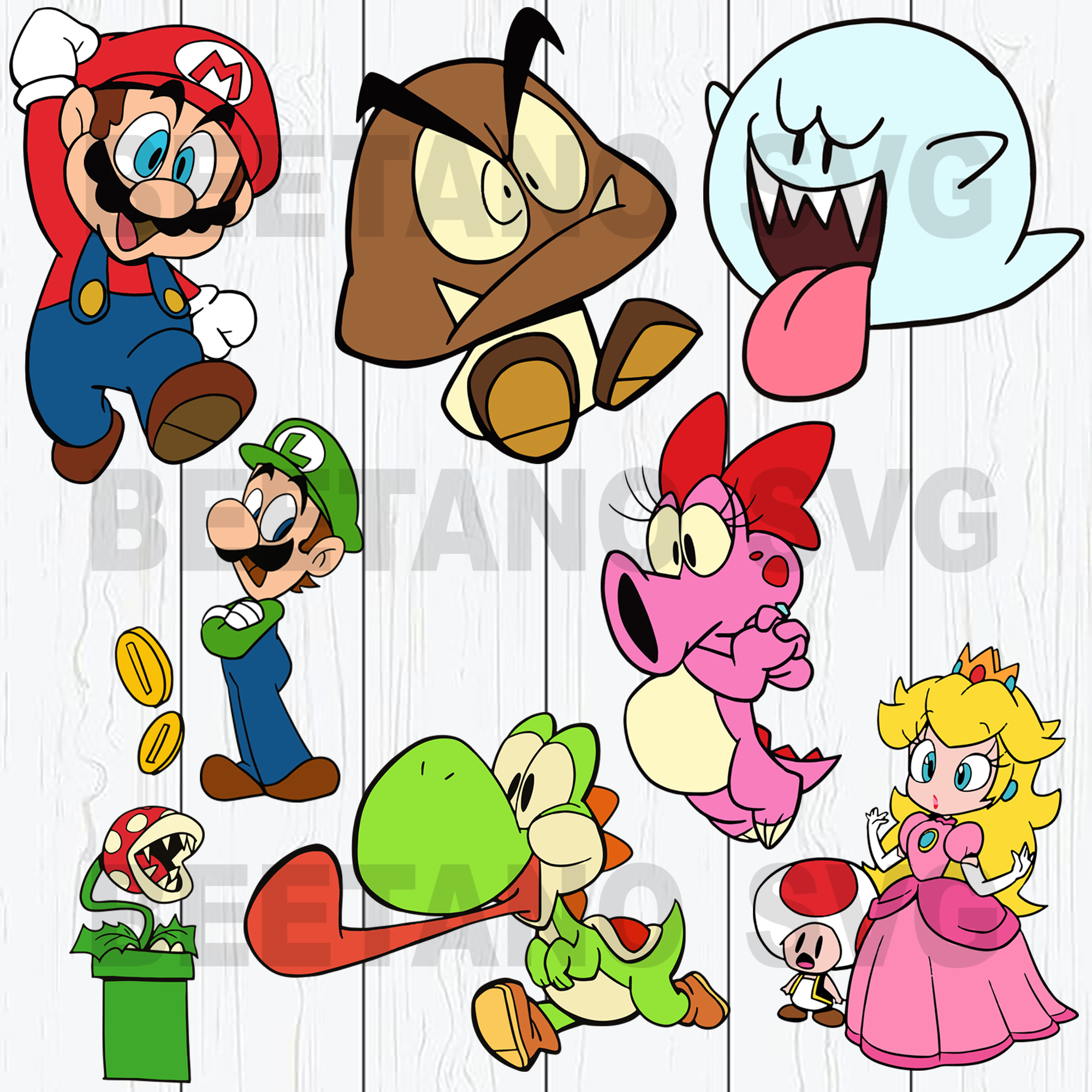 Super Mario Svg Bundle Super Mario Svg Super Mario Cutting Files For Beetanosvg Scalable Vector Graphics